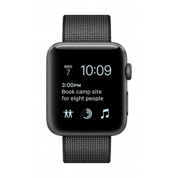 Apple Watch Series 2 38mm Space Grey  Aluminum Case with Space Black Woven Nylon Band