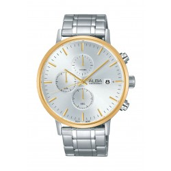 Alba AM3354X1 Gents Casual Chronograph Metal Watch - Silver