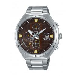 Alba AM3393X1 Gents Fashion Chronograph Watch - Metal Strap – Silver