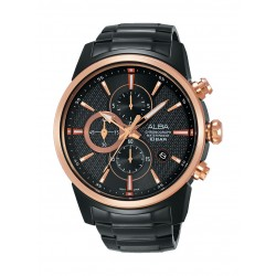 Alba AM3448X1 Gents Sports Chronograph Watch Metal Strap