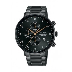 Alba 44mm Quartz Chronograph Gent's Metal Watch - AM3605X1