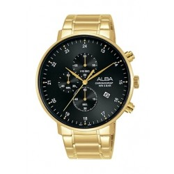 Alba 44mm Quartz Chronograph Gent's Metal Watch - AM3606X1