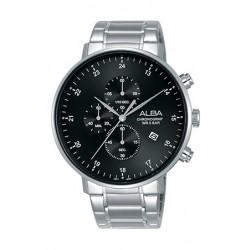 Alba 44mm Quartz Chronograph Gent's Metal Watch - AM3607X1
