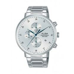 Alba 44mm Quartz Chronograph Gent's Metal Watch - AM3609X1