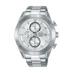 Alba Quartz 41.5mm Chronograph Gent's Metal Watch - AM3623X1