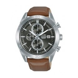 Alba Quartz 41.5mm Chronograph Gent's Leather Watch - AM3629X1
