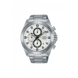 Alba 45mm Chronograph Gents Metal Watch (AM3641X1) - Silver