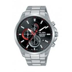 Alba Quartz 44mm Chronograph Gent's Metal Watch - AM3651X1