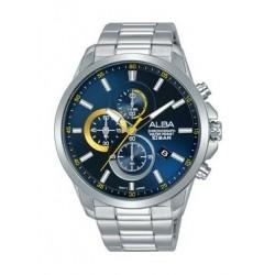Alba Quartz 44mm Chronograph Gent's Metal Watch - AM3653X1