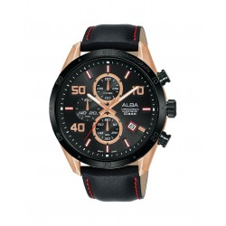 Alba 100mm Chronograph Gents Leather Fashion Watch (AM3676X1)