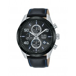 Alba 100mm Chronograph Gents Leather Fashion Watch (AM3677X1)