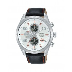 Alba 100mm Chronograph Gents Leather Fashion Watch (AM3679X1)