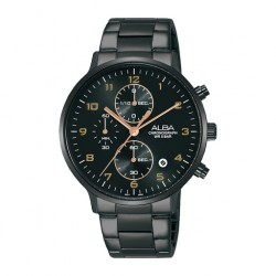 Alba 40mm Chronograph Gents Metal Casual Watch (AM3681X1)
