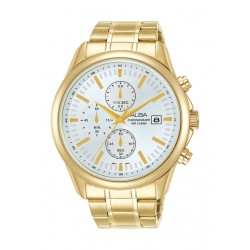 Alba 44mm Gent's Chronograph Casual Metal Watch - (AM3694X1)