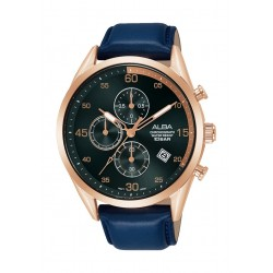 Alba 44mm Gent's Chronograph Leather Casual Watch - (AM3710X1)