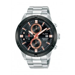 Alba 44mm Gent's Chronograph Sports Metal Watch - (AM3717X1)