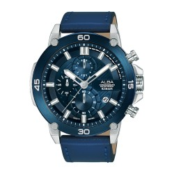 Alba 45mm Chronograph Gents Leather Fashion Watch (AM3743X1)