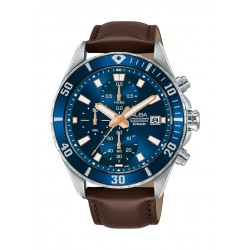 Alba 43mm Gent's Leather Chronograph Casual Watch - AM3813X1