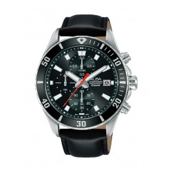 Alba 43mm Gent's Leather Chronograph Casual Watch - AM3815X1