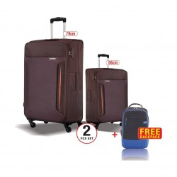 American Tourister Troy 2 Sets (79cm + 56cm) Brown + Backpack