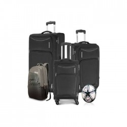 American Tourister Portland 4 Set Luggage With Football - Black