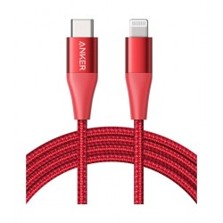 Anker PowerLine+ II 0.9m USB-C to Lightning Cable - Red