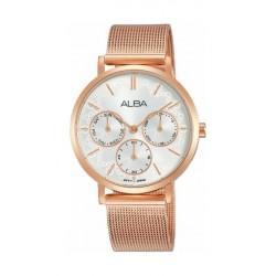 Alba Quartz 34mm Ladies Analog Metal Watch (AP6594X1) - Rosegold