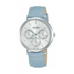 Alba Quartz 34mm Ladies Analog Leather Watch (AP6607X1) - Light Blue