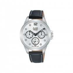 Alba 36mm Analog Ladies Leather Watch (AP6639X1) - Black