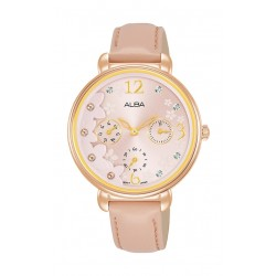 Alba 36mm Ladies Analog Leather Fashion Watch - AP6678X1