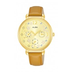 Alba 36mm Ladies Analog Leather Fashion Watch - AP6680X1
