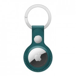 Apple AirTag Leather Key Ring - Forest Green buy in xcite kuwait