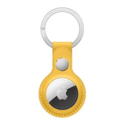 Apple AirTag Leather Key Ring - Meyer Lemon yellow buy in xcite kuwait