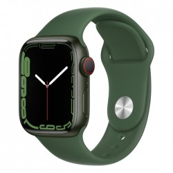 Apple Watch Series 7 41mm green shiny Clover new silicone buy in xcite ksa