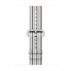 Apple 38mm Smart Watch Woven Nylon Band (MRH92) - Grey Stripe