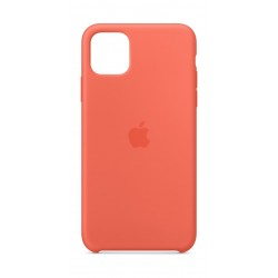 Apple iPhone 11 Pro Max Silicon Case - Clementine Orange