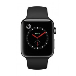 Apple Watch Series 4 40mm, Space Black Stainless Steel Case Black Sport Band (MQK92LL/A)