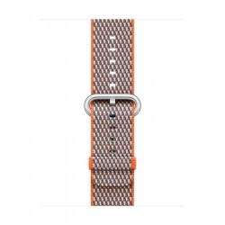 Apple Woven Nylon Strap For 38mm Watch Case - Spicy Orange Check