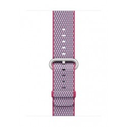 Apple Woven Nylon Strap For 42mm Watch Case - Berry Check