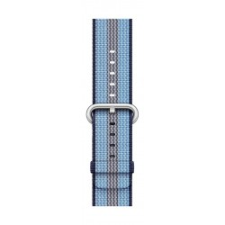 Apple Woven Nylon Strap For 38mm Watch Case - Midnight Blue Stripe