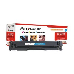 AnyColor 201X Cyan 2300 Page Yield Toner Printer Cartridge - AR-CF401X
