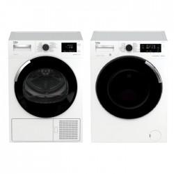 Beko 11kg Front Load Washing Machine + Beko 10KG Heat Pump Tumble Dryer