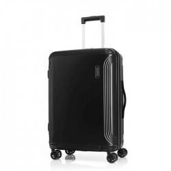 American Tourister 69cm Spinner Hyperbeat Hard Luggage - Black