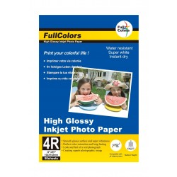 "Fullcolors High Glossy 4x6"" (4R) 240Gsm Photo Paper - 50 Sheets"