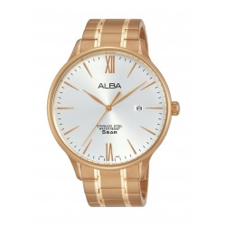 Alba Gents Casual Analog 43 mm Metal Watch (AS9E04X1) - Rose-Gold
