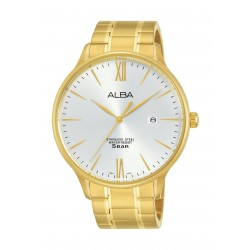 Alba Gents Casual Analog 43 mm Metal Watch (AS9E06X1) - Gold