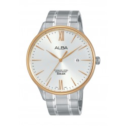 Alba Gents Casual Analog 43 mm Metal Watch (AS9E08X1) - Silver