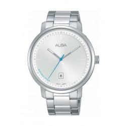 Alba Quartz 42.5mm Analogue Gent's Metal Watch (AS9F41X1) - Silver