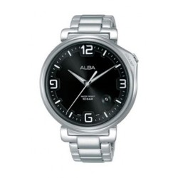 Alba Quartz 43mm Analog Gent's Metal Watch - AS9F89X1