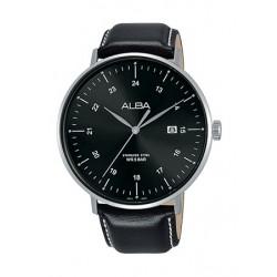 Alba 44mm Quartz Analog Gent's Leather Watch - AS9G03X1